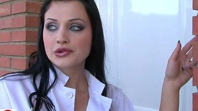 big tits   brunette   doctor   doggystyle   piercing   uniform