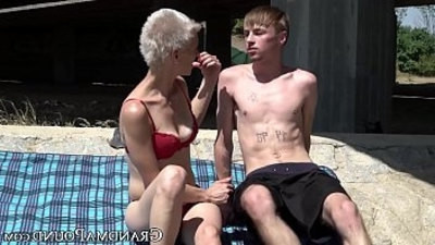 cocks  granny  swallow  young