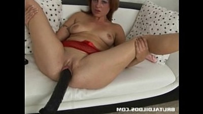 brunette   brutal   dildo   machines